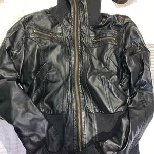 Women's small leather jacket